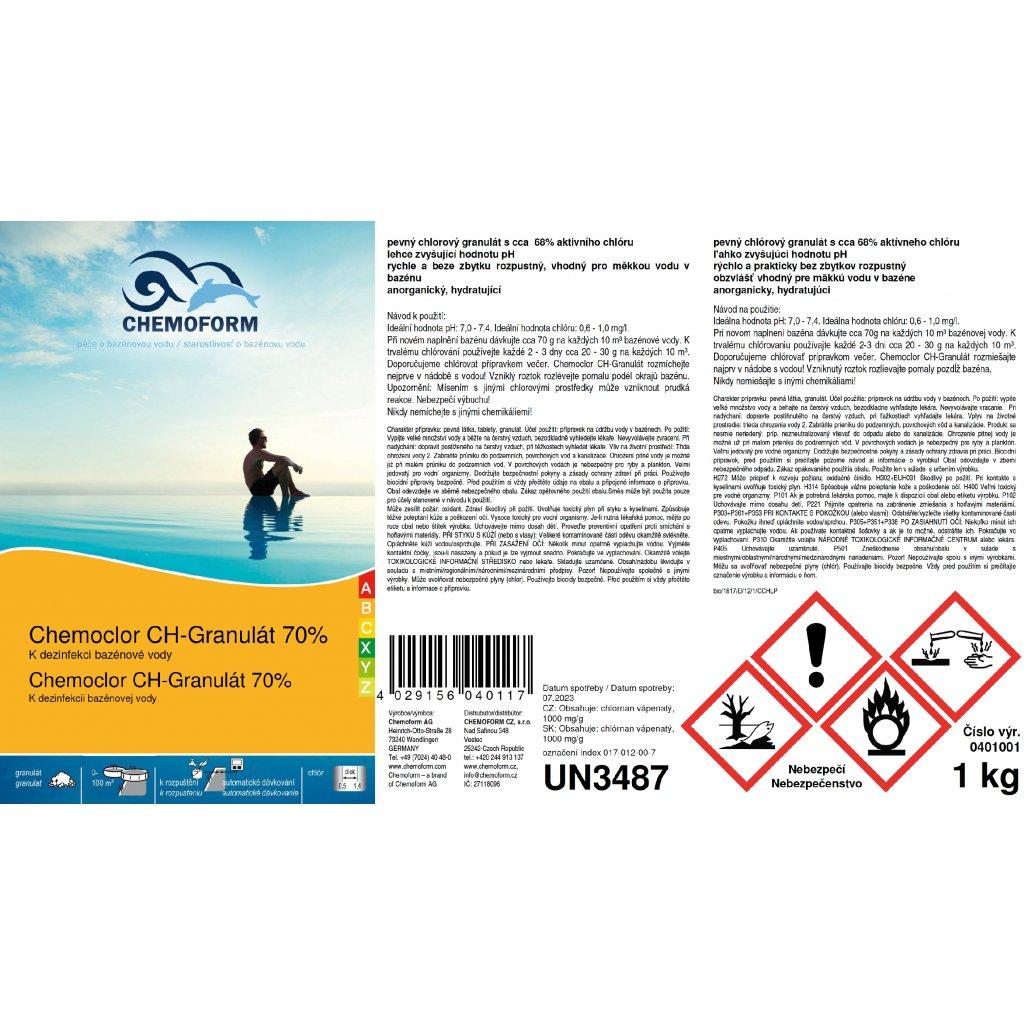 Chemoclor CH - Granulát (Obsah balení 5 kg)