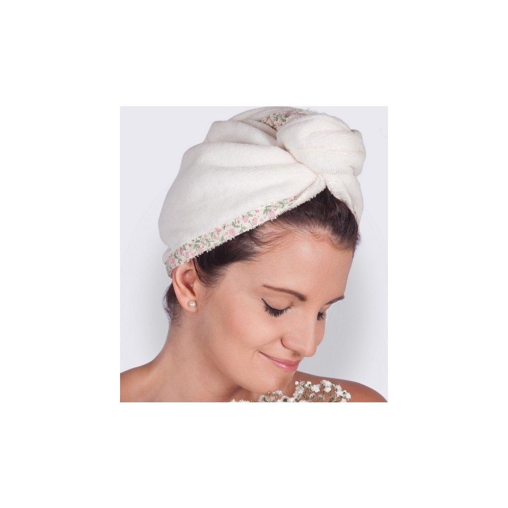 23994 floral summer kremovy turban na vlasy od maryberry
