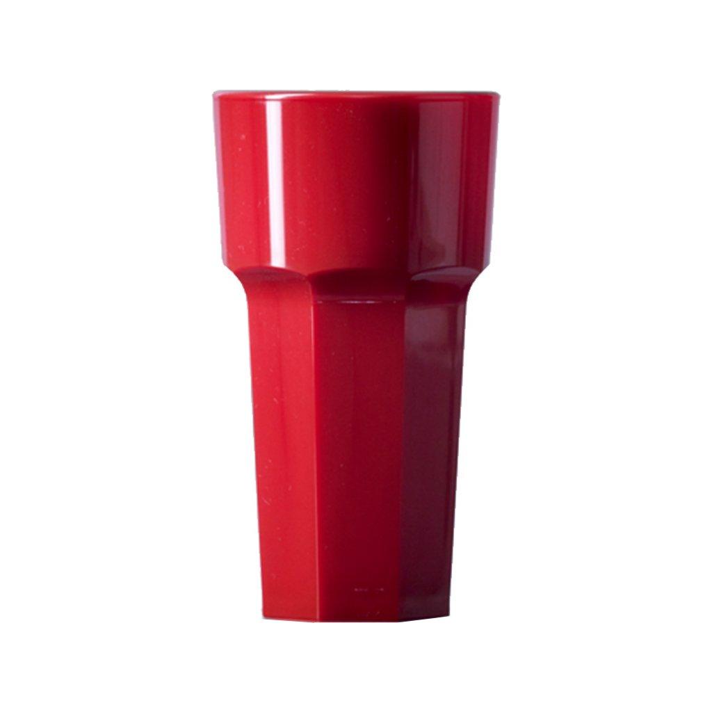 24978 mala plastova sklenice na vodu cervena