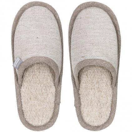 Pantofle do sauny ONNI béžové velikost S