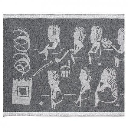 podlozka do sauny naisten 46x60 tmave seda