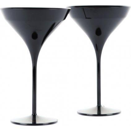22986 sklenice na martini cerna 2ks