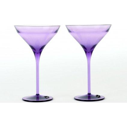 22989 sklenice na martini fialova 2ks