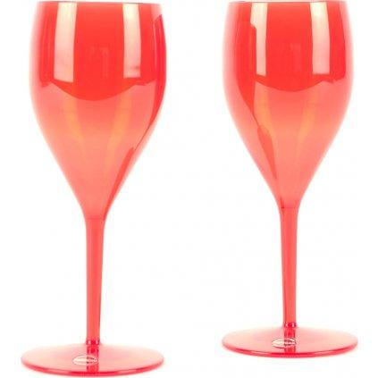 22992 sklenice na sampanske cervena 2ks