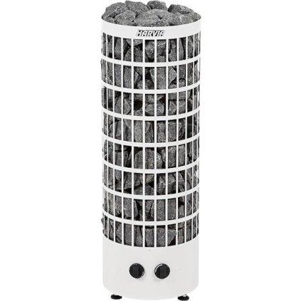 23037 saunova kamna harvia cilindro 7 kw bila s vestavenym ovladanim