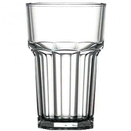Plastová sklenice čirá