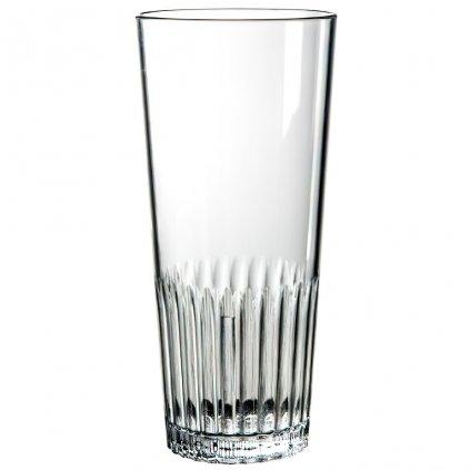 Plastová sklenice s vroubky