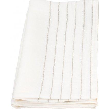 Osuška KASTE (Bílá-len) (Velikost 95 x 180 cm)