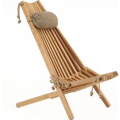 ECO Chair ALDER (Barva Přírodní s polštářem)