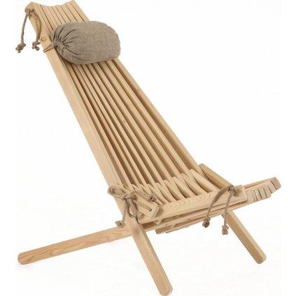 ECO Chair LARCH (Barva Přírodní s polštářem)