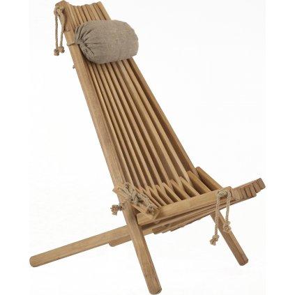 ECO Chair OAK (Barva Přírodní s polštářem)