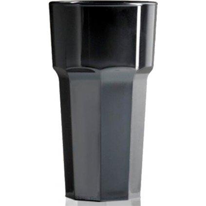 24966 mala plastova sklenice na vodu cerna