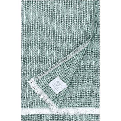Osuška LAINE (Zelená aspen) (Velikost 85 x 175 cm)
