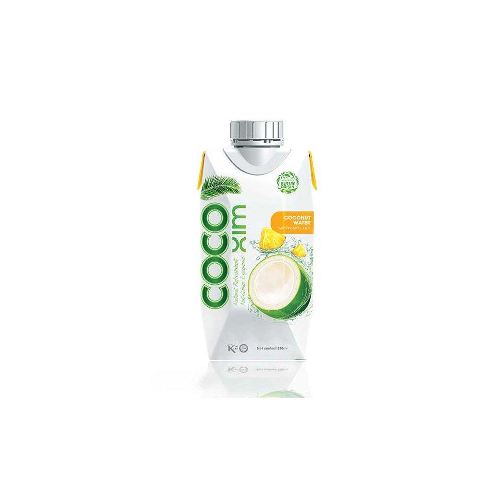 COCOXIM kokosová voda ananas, 330 ml