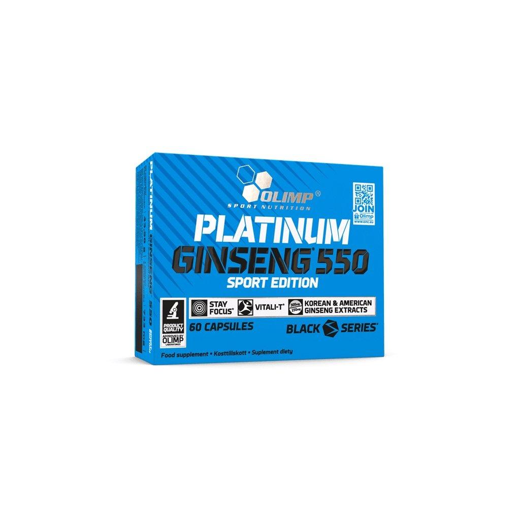 Olimp Platinum Ginseng 550 60 kapslí, ženšen korejský a americký