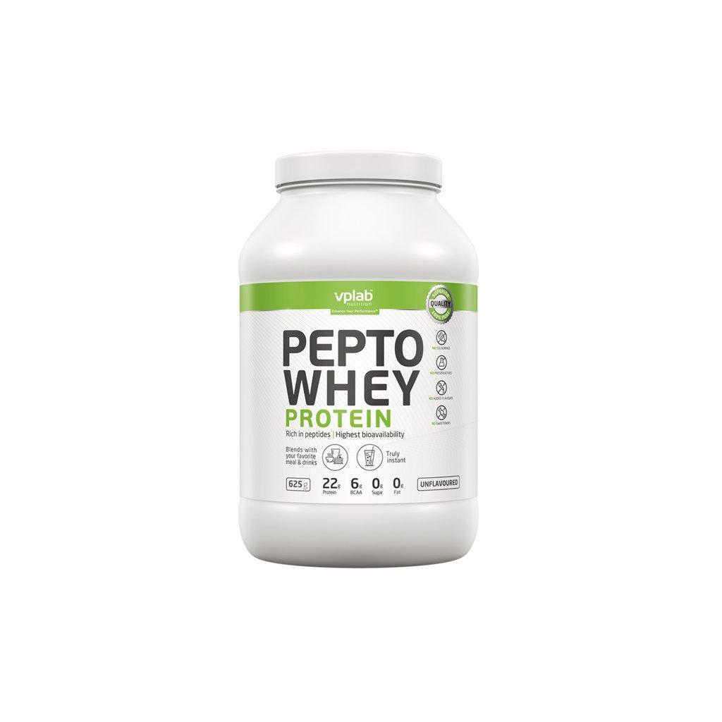 VPLab Pepto Whey Protein, 625 g, Hydrolyzát a Izolát syrovátkové bílkoviny, bez příchutě