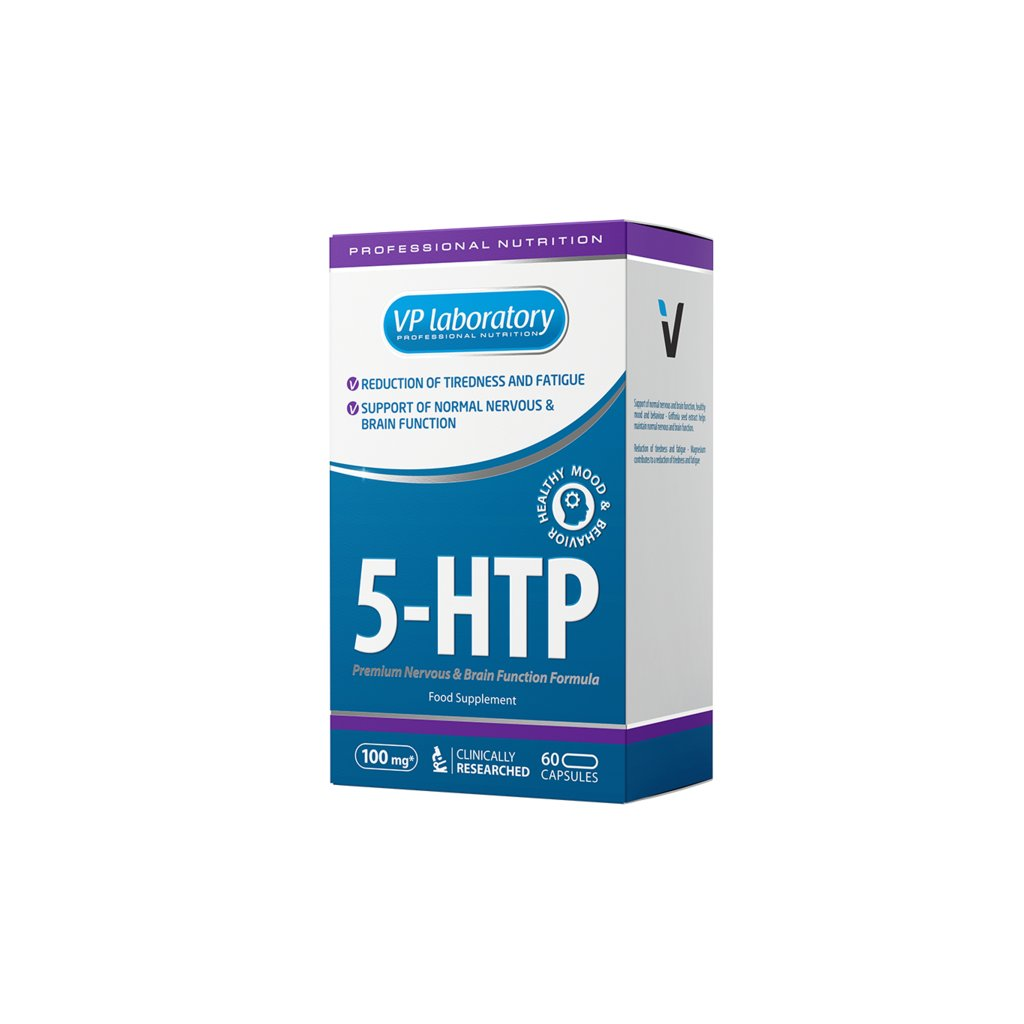VPLab 5-HTP 60 kapslí, bisglicinát hořčíku a extrakt ze semen griffonia simplicifolia