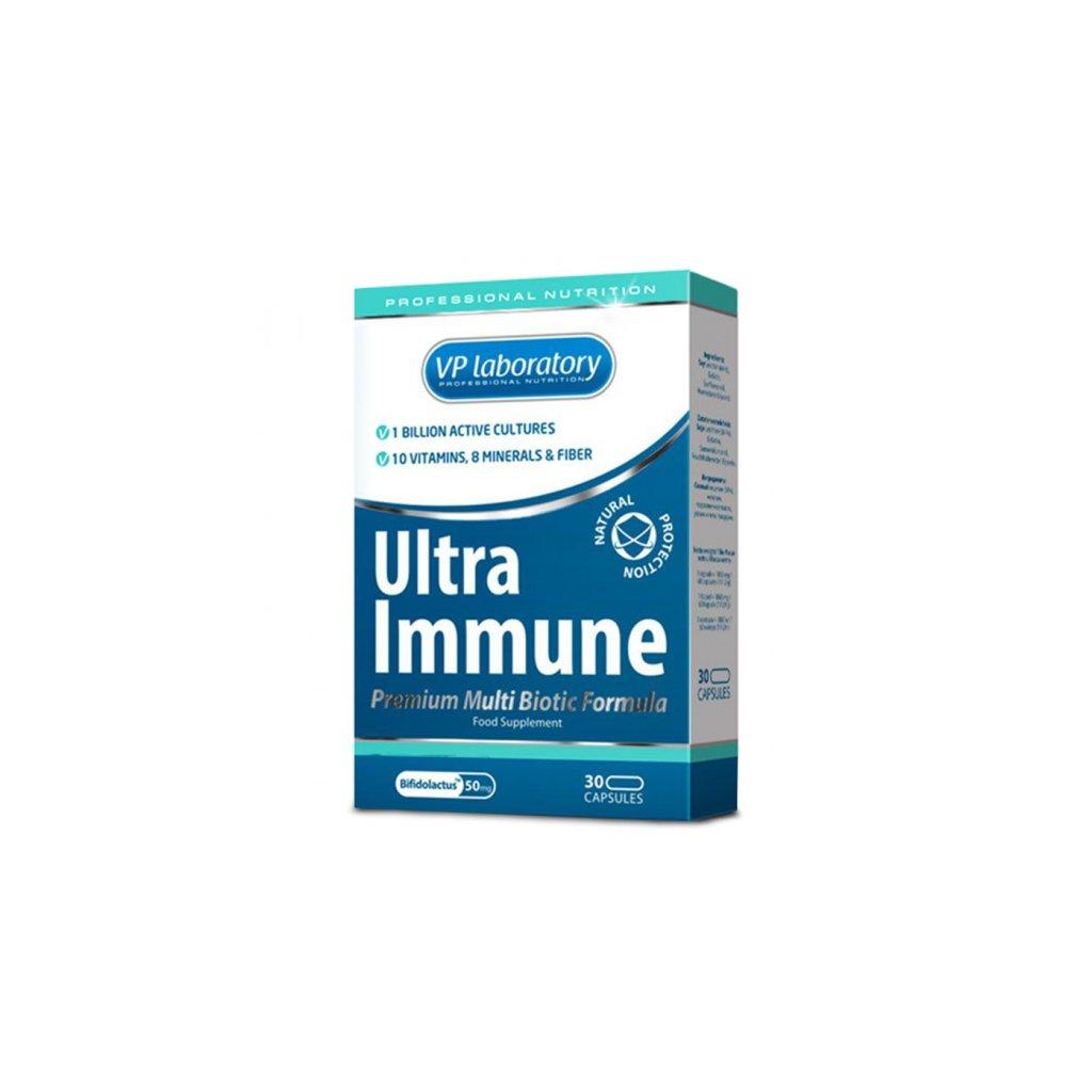 VPLab Ultra Immune Multi Biotic Formula 30 kapslí, bakteriální kultury, vláknina, vitamíny a minerály