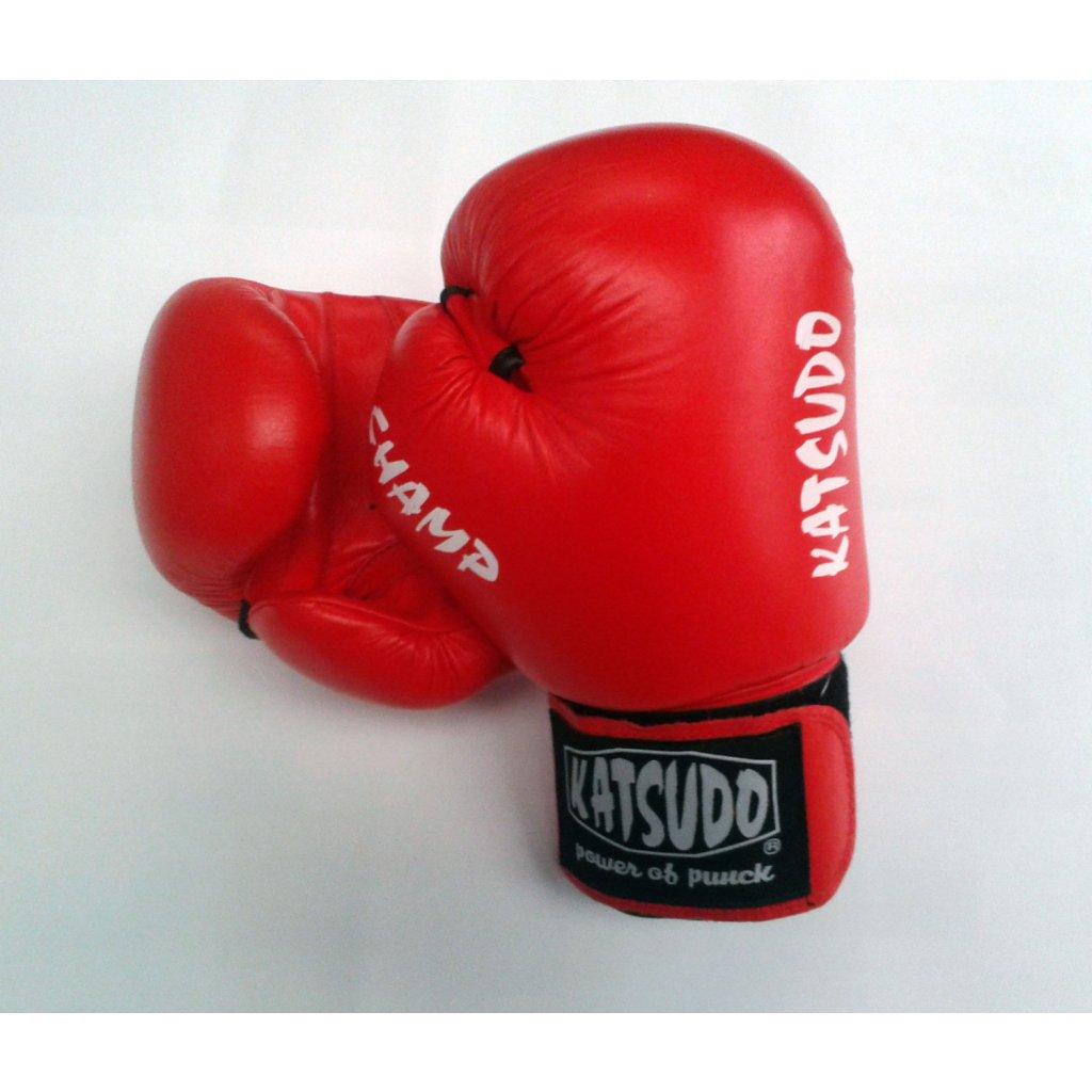 Katsudo Boxerské rukavice Champ, červené, 14 oz