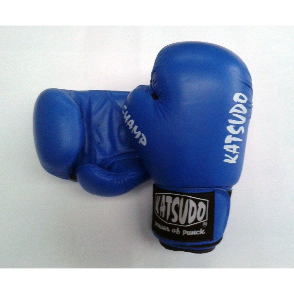 Katsudo Boxerské rukavice Champ, modré, 14 oz
