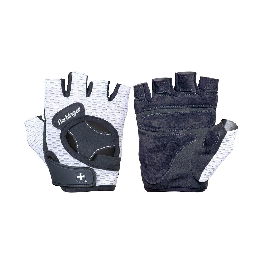 Dámské fitness rukavice 139, bílé, Harbinger, S