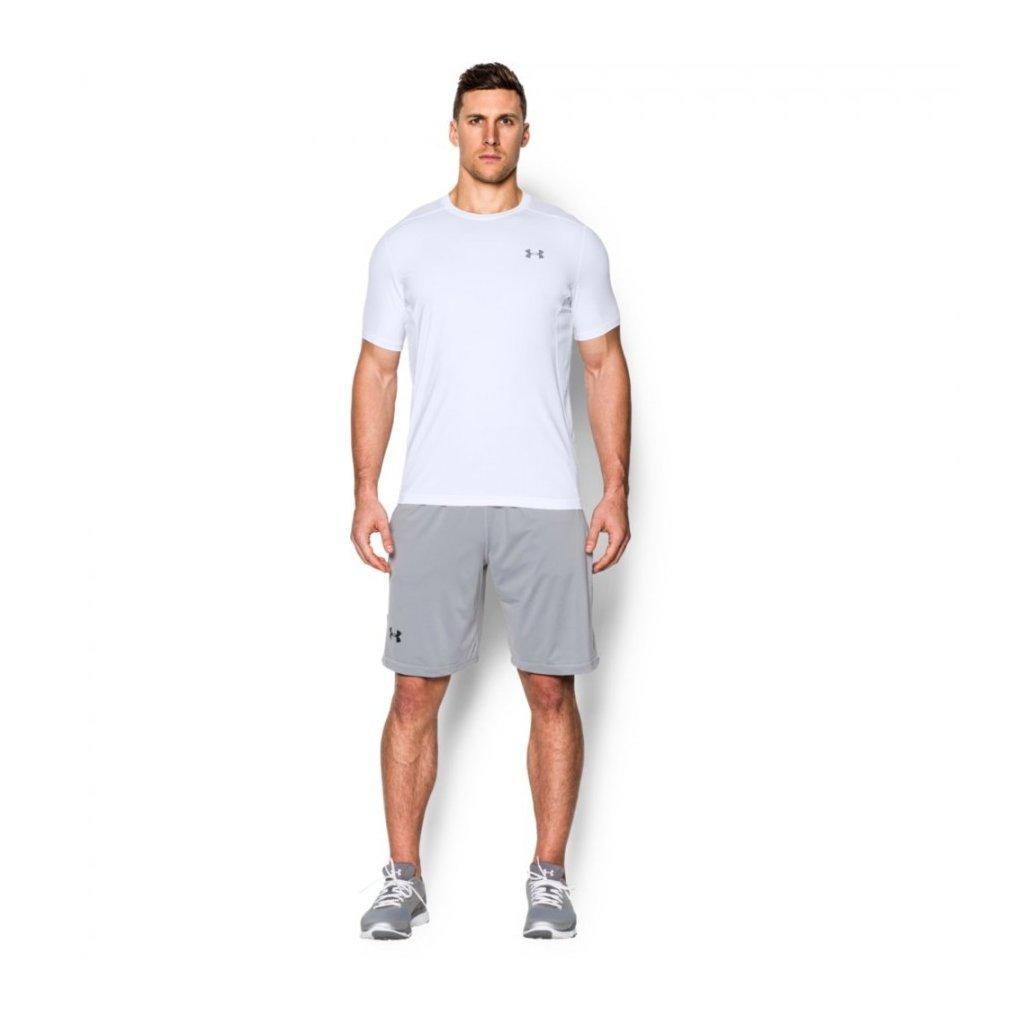 Pánské běžecké triko Under Armour raid s krátkým rukávem bílé, XL