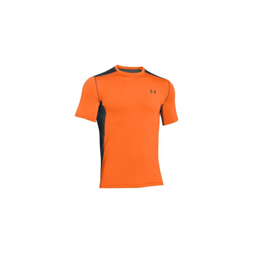 Pánské běžecké triko s krátkým rukávem oranžové