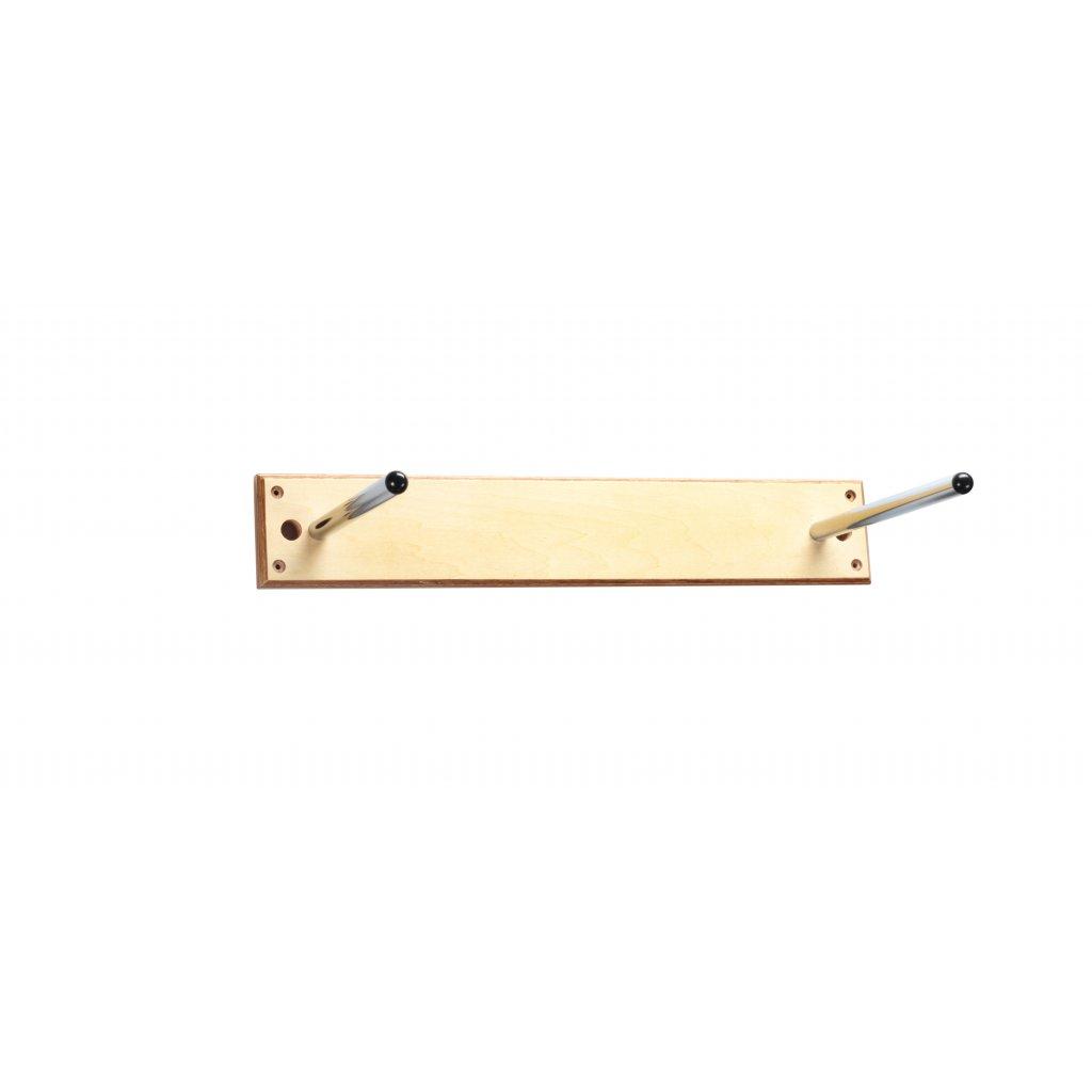 TM-Věšák na podložky na cvičení na zeď, dřevěný