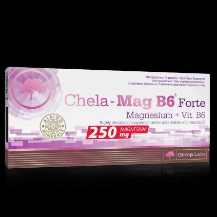 Olimp Chela-Mag B6® Forte Magnesium+Vit.B6 60 kapslí, chelátová forma hořčíku