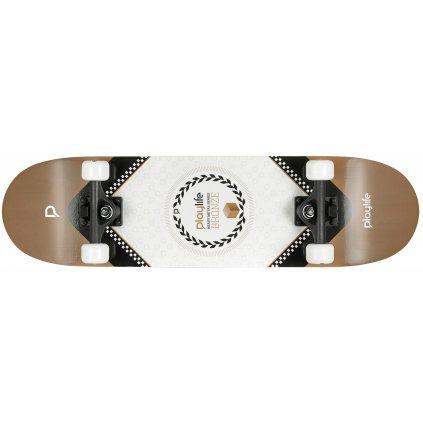 "Skateboard Playlife Heavy Metal Bronze 31x8"""