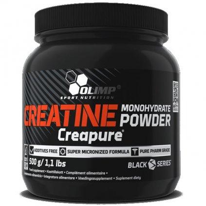 Olimp Creatine Monohydrate Powder Creapure 500g, sypká forma kreatinu v patentované formě Creapure