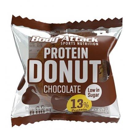 Body Attack Protein Donut 60g, kobliha s navýšeným obsahem bílkovin, Chocolate