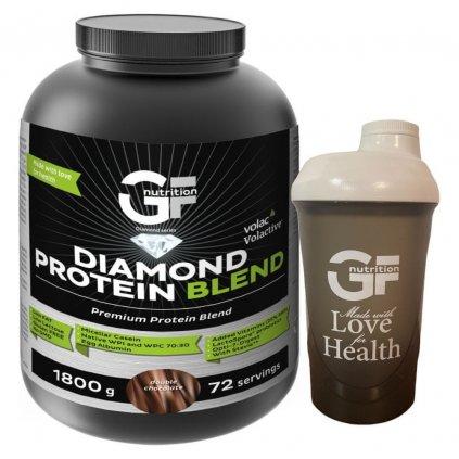 GF Nutrition Diamond Protein Blend 1800 g, super kvalitní vícesložkový protein, Blueberry Yogurth