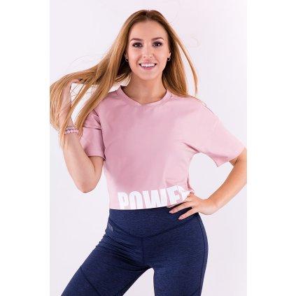 Dámské zkrácené tričko POWER pink