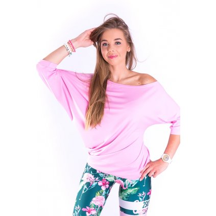 Dámské asymetrické tričko SPONTANIC pink