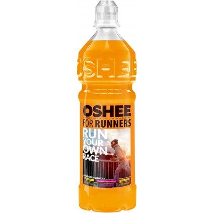 OSHEE Isotonic Drink For Runners 750 ml, izotonický nesycený nápoj s draslíkem a hořčíkem, Orange
