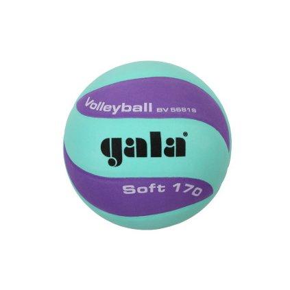 Míč volejbalový Soft 170 barva zelená-fialová