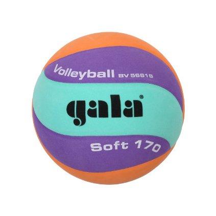 Míč volejbalový Soft 170 barva zelená-oranž.-fialová