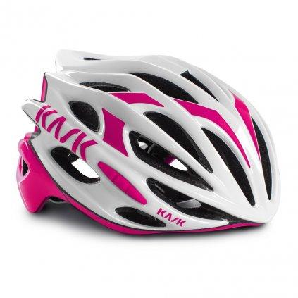 Helma Kask Mojito, White/Pink Velikost: 48 - 56 cm