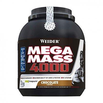 Weider, Giant Mega Mass 4000, Gainer, 3000 g, Vanilka