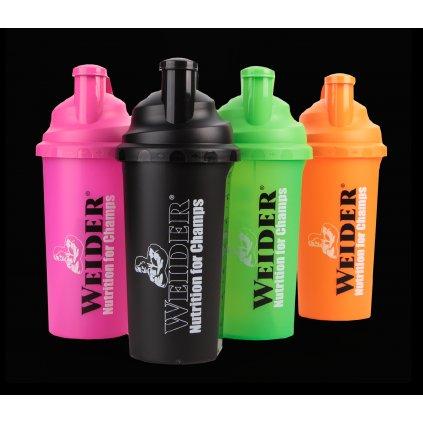 Shaker Weider Profi 700 ml, různé barvy, Černý