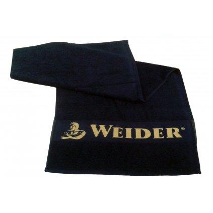 Weider, Ručník černý se zlatým logem