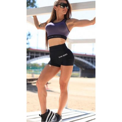 Dámské kraťasy Gym Hero Push Up Shorts, šortky, černé, S