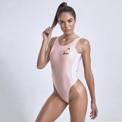 Dámské spodní prádlo Labellamafia BODYSUIT GLOSSY SALMON FBY13730, M