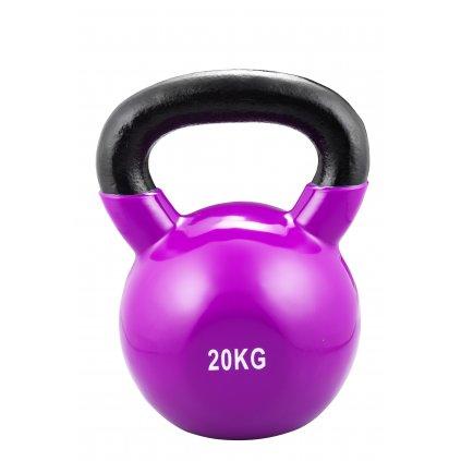 Trendy Sport Kettlebel vinyl, 20kg, tmavě fialový