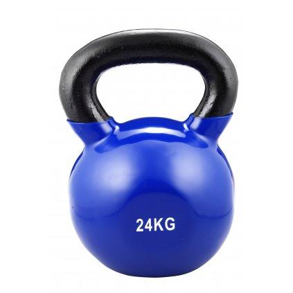 Trendy Sport Kettlebel vinyl, 24kg, modrý