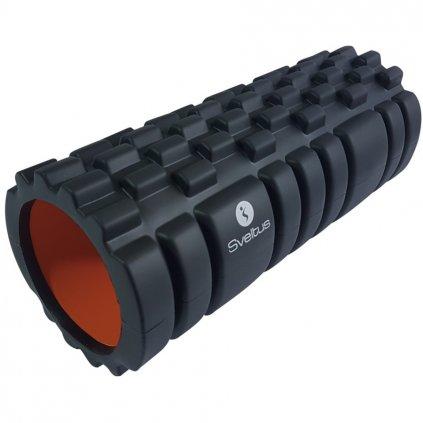 Foam Roller with grid black/orange