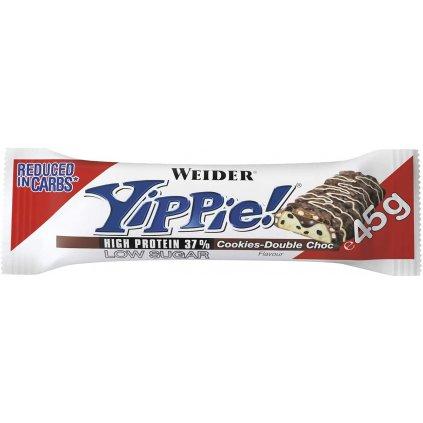 Weider Yippie! Low Sugar High Protein 37%, 45 g, Brownie-Vanila