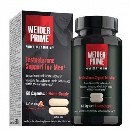 Weider PRIME TESTOSTERONE SUPPORT FOR MEN, 60 CAPS, podpora metabolismu tuků a tvorby testosteronu