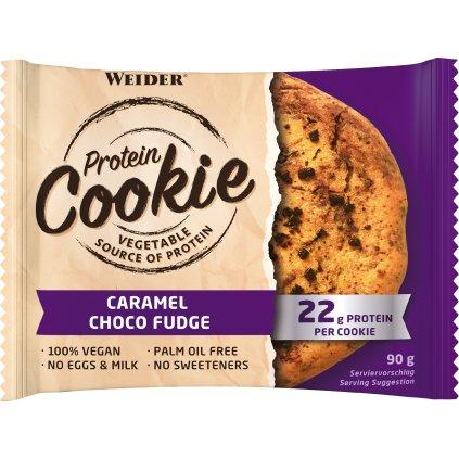 WEIDER Protein Cookie, KARAMEL-ČOKOLÁDOVÝ FONDÁN, 90 g